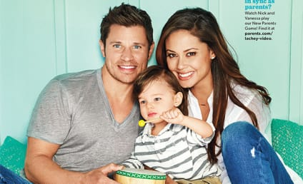 """Nick and Vanessa Lachey Pose with Toddler, Talk """"Alone Time'"""