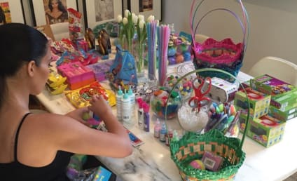 Kim Kardashian Readies Easter Basket, Flashes Way Back
