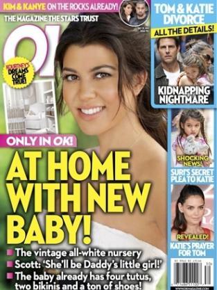 Kourtney Kardashian on OK!