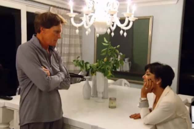 Bruce and Kris Jenner on KUWTK