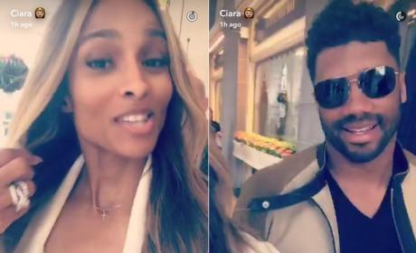 Ciara and Russell Wilson on Snapchat