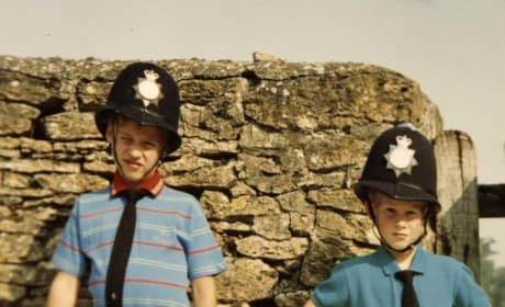 Young William and Harry