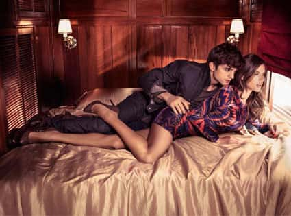 Ashton Kutcher and Alessandra Ambrosio