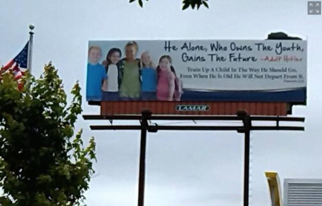 Billboard Hitler Quote Billboard
