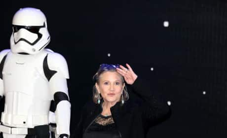 Carrie Fisher Salutes
