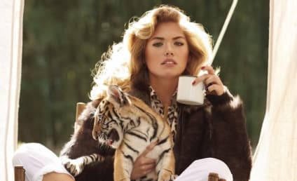 Kate Upton Cuddles Up to Favorite Tiger