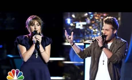 Caroline Pennell vs. George Horga Jr. - The Voice Knockout