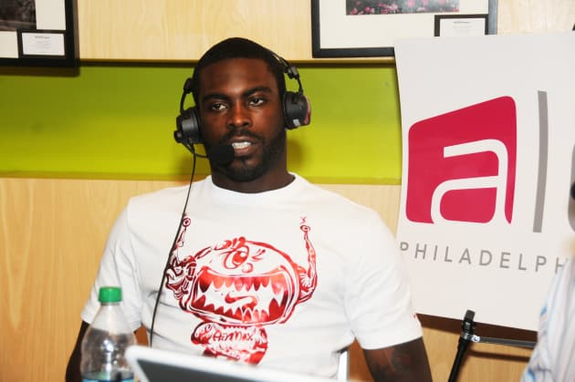 Michael Vick on a Couch