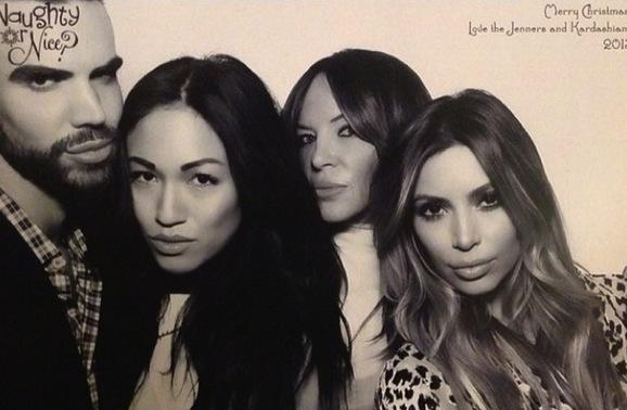 Kim Kardashian with Pals