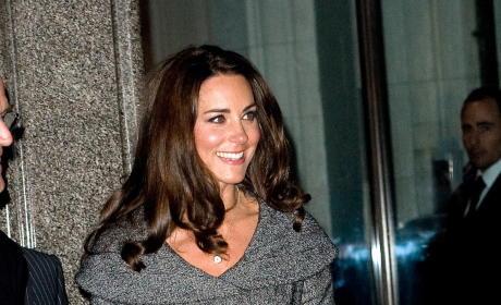 Kate Middleton, Gray Dress