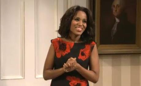 Kerry Washington SNL Cold Open As Michelle Obama