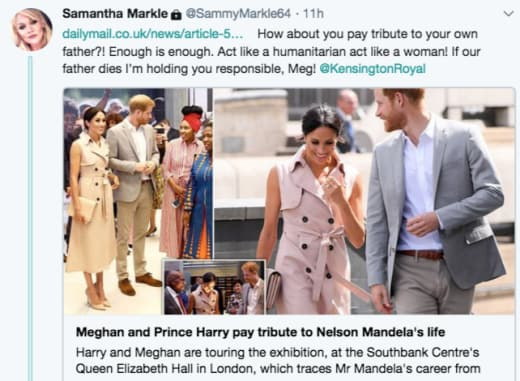 Samantha Markle Tweets