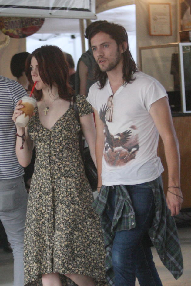 Frances Bean Cobain and Isaiah Silva