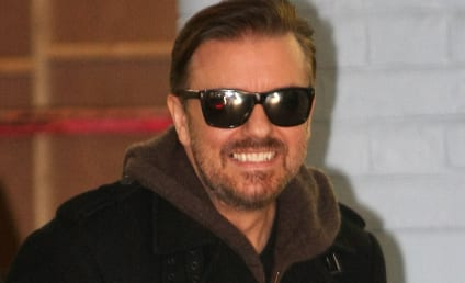 "Ricky Gervais Mocks Justin Bieber as ""Gimp,"" Fans as ""Illiterate"""
