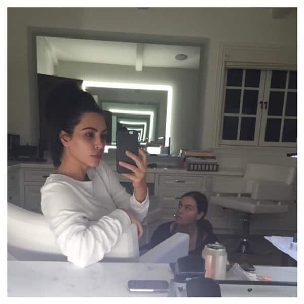 No Makeup on Kim Kardashian