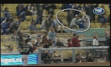 Dodger Fan Drops Foul Ball, Daughter