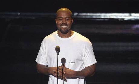 Kanye West is Actually Smiling