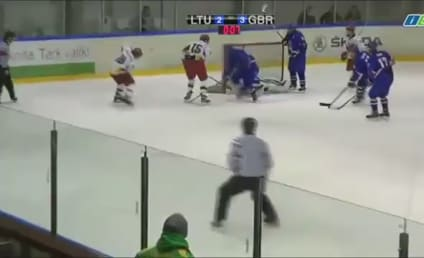 Hockey Player Throws Stick at Ref, is Insane