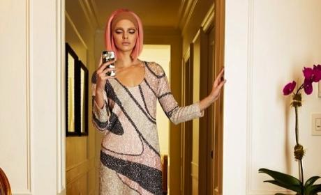 Kendall Jenner with Pink Hair