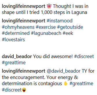 Lesley Cook and David Beador comments
