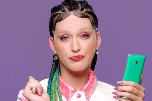 Why Does Katy Perry Look Like Ellen Degeneres Imitating Riff Raff?
