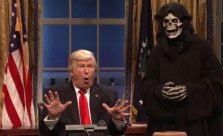 Steve Bannon as the Grim Reaper