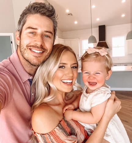 Arie Luyendyk Jr. and Lauren Burnham and Child