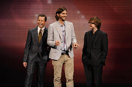 Ashton Kutcher, Two and a Half Men Cast
