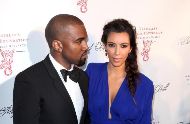 Kim Kardashian and Kanye West on the Red Carpet