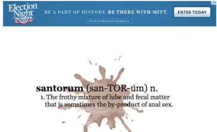 Spreading Santorum: Paid For By Mitt Romney!