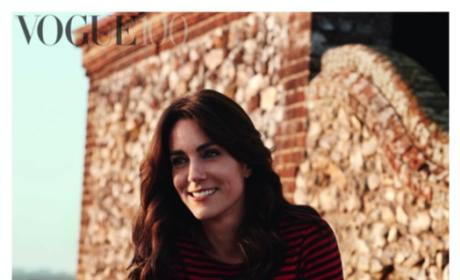 Kate Middleton Wears Breton Stripes For British Vogue