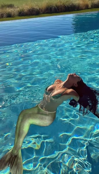 Kourtney Kardashian as a Mermaid