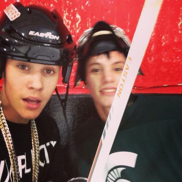 Justin Bieber and Michigan State Fan