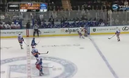 Hockey Reporter Hit in the Face With Puck, is Totally Unfazed