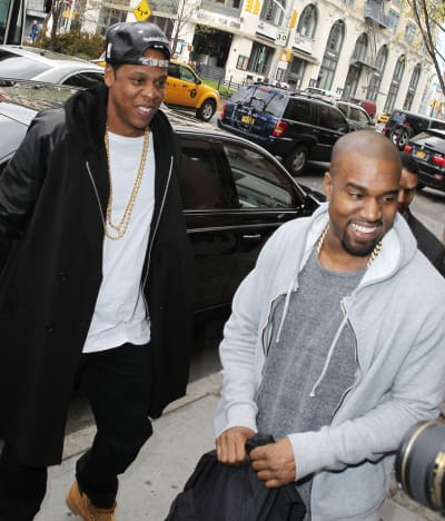 Jay Z and Kanye West Photo