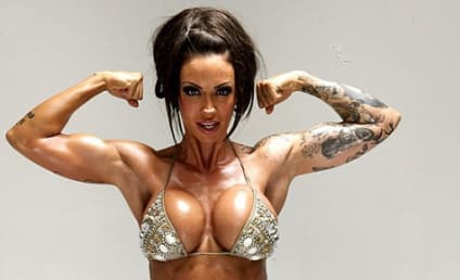 The Hollywood Gossip British Babe Watch: Half Nude Jodie Marsh