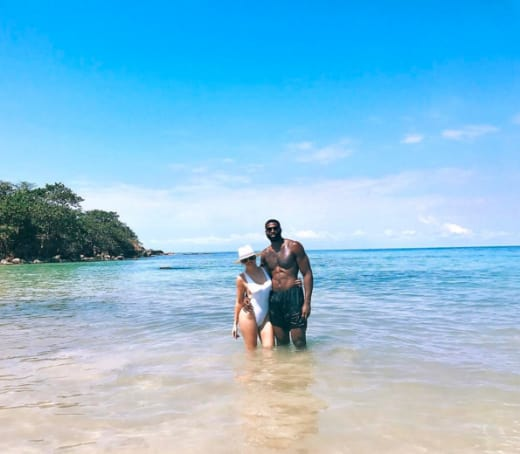 Khloe Kardashian with Tristan Thompson on Vacation