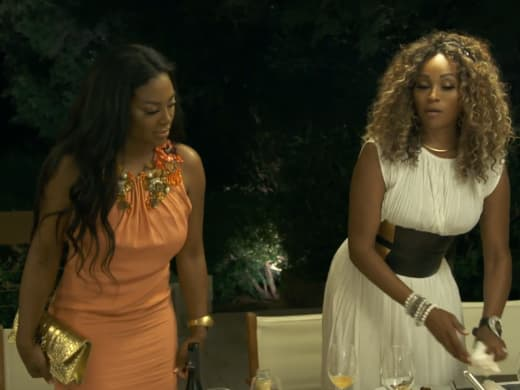 Kenya Moore Stands with Cynthia Bailey