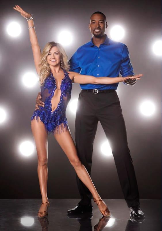 Calvin Johnson and Lindsay Arnold
