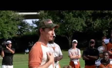 Matthew McConaughey Talks to the Texas Longhorns