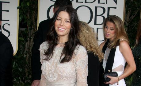 Jessica Biel at the Golden Globe Awards