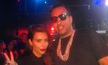 French Montana and Kim Kardashian