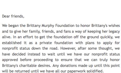 Fake Brittany Murphy Charity Shut Down