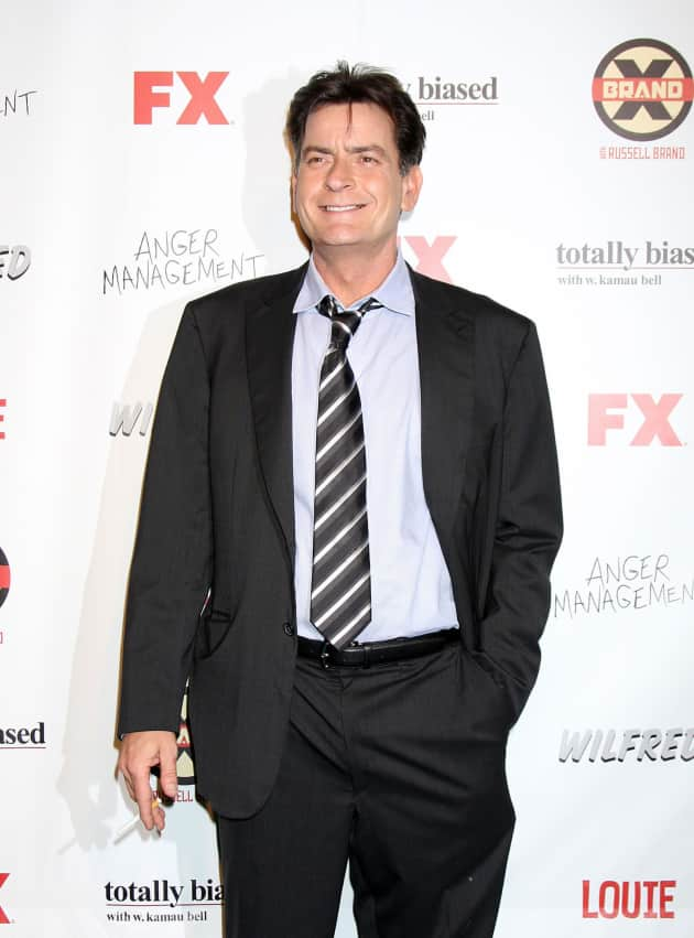 Charlie Sheen Red Carpet Pic