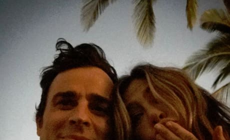 Justin Theroux and Jennifer Aniston on Instagram