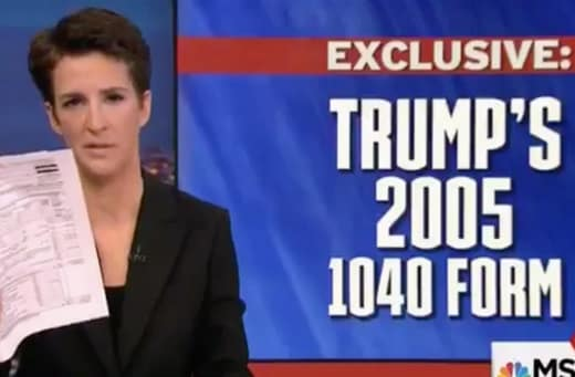 Rachel Maddow with Tax Return