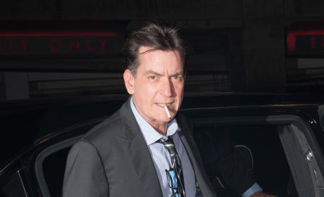 Charlie Sheen Smoking