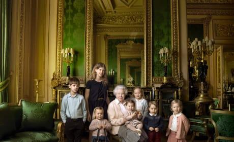 The Queen Poses With Grandchildren and Great-Grandchildren