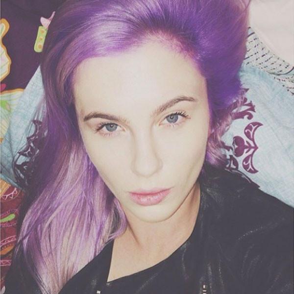 Ireland Baldwin Goes Purple