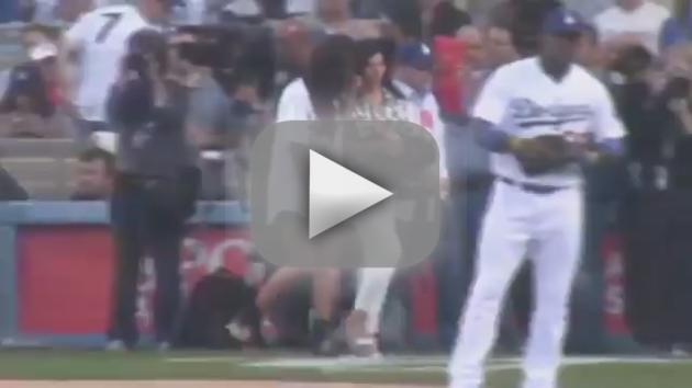 Cristiano Ronaldo Throws Out First Pitch